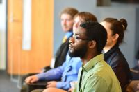 Midwest Regional Collegiate Cyber Defense - Students Listening to a Presentation