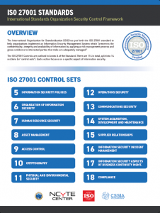 ISO 270001 Standards